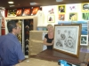 Récupérer l'encadrement des esquisses de la toile de Blacky, réalisé par Véronique de Point-Cadres sur Destreland à Baie-Mahault