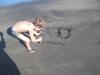 Victor :  Plage de sable noir Grand Anse Trois Rivières. Dimanche 3 mars 2013