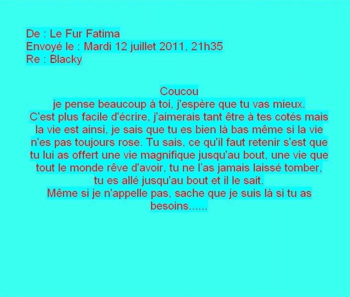Message de Fatima le Fur