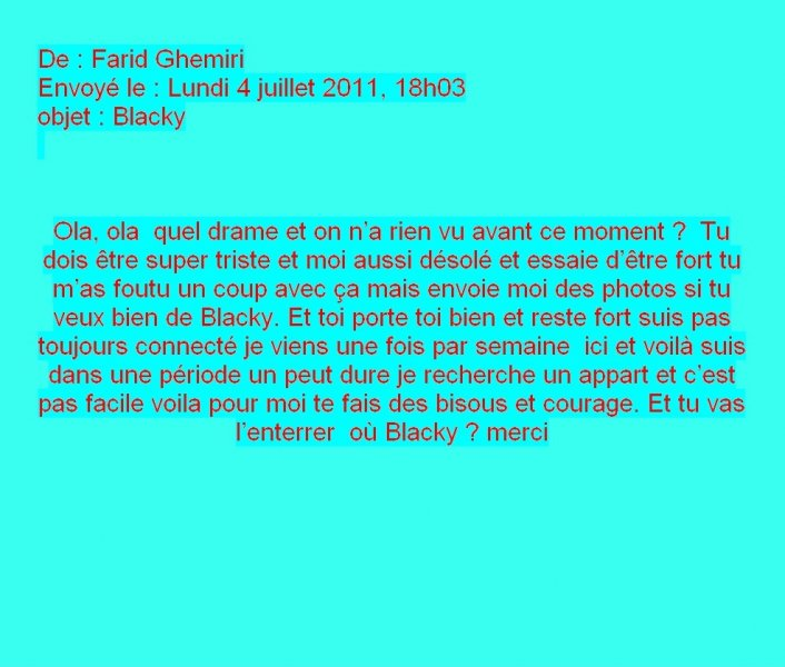 Message de Farid Ghemiri