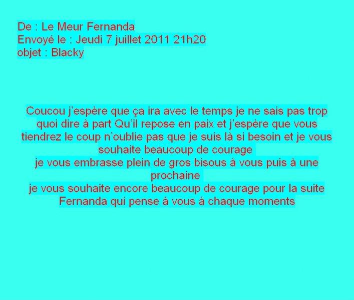Message de Fernanda le Meur