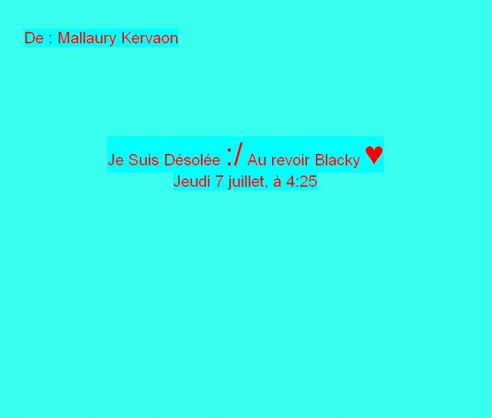 Message Facebook de Mallaury Kervaon