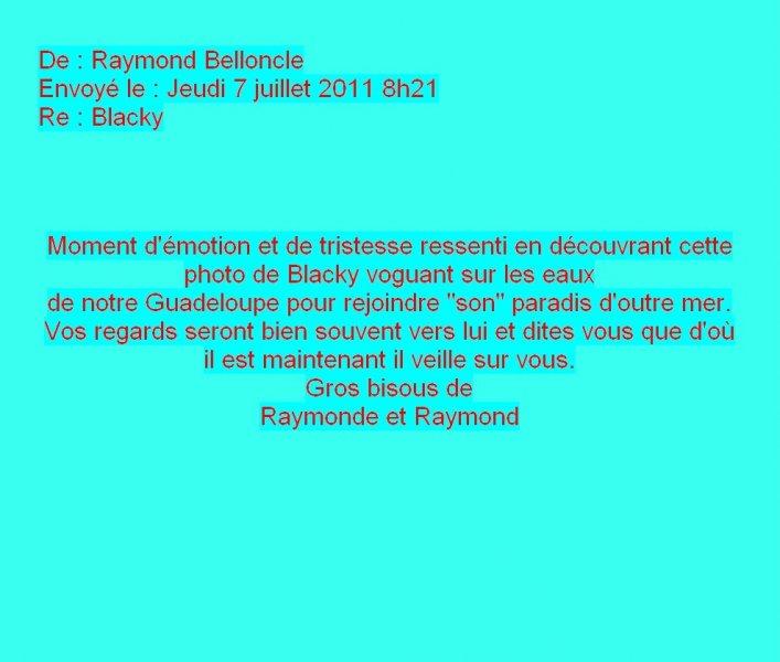 Message de Raymonde Belloncle
