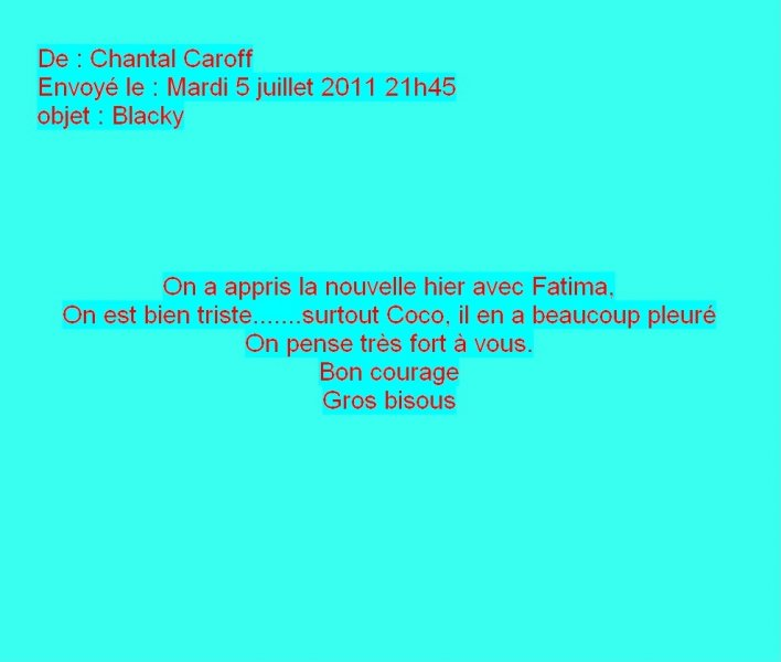 Message de Chantal Caroff