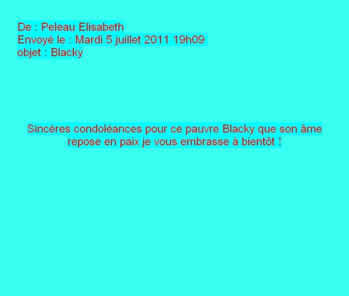 Message d'Elisabeth Peleau