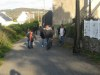 Promenade de Blacky avec la famille