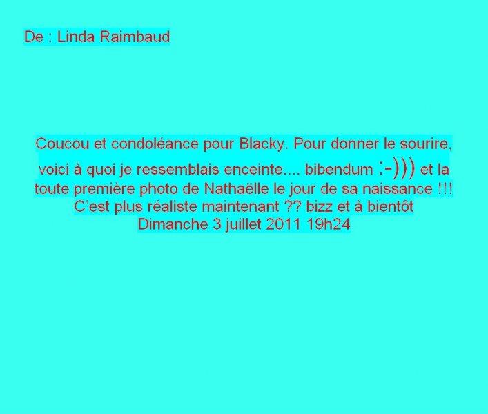 Message Facebook de Linda Raimbaud