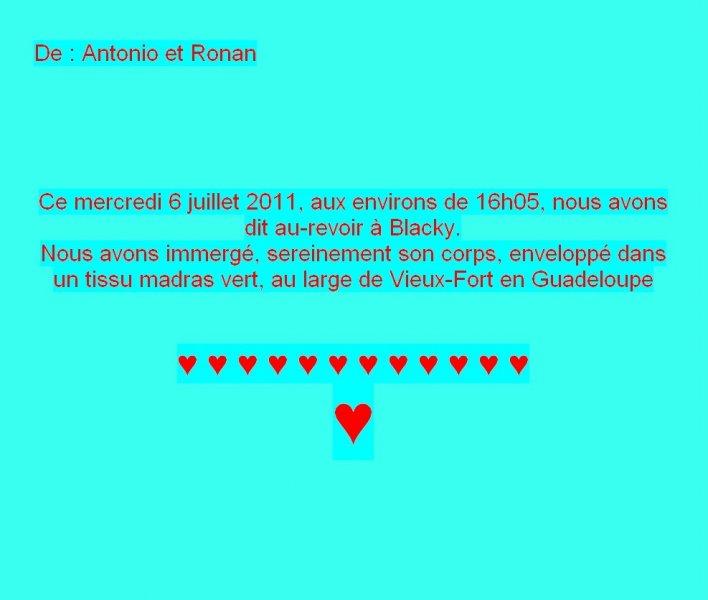 Message de Tonio et Ronan
